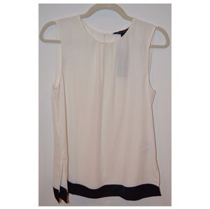 White Sleeveless BR Blouse